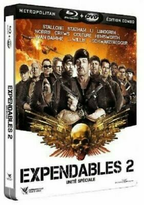 Blu Ray + Dvd - Expendables 2 / Combo Steelbook, Stallone, Willis, Norris, Neuf
