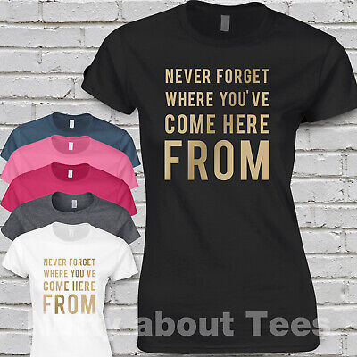 Take That Band Tour Ladies Fitted T-shirt gold print  MUSIC LYRICS NEVER FORGET