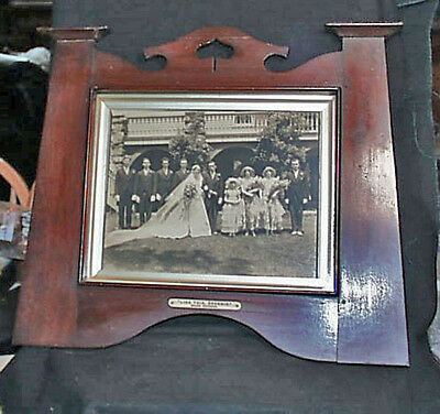 Incredibly Fine c1925 Large Wooden Art Deco Wedding Wall Frame & Photo