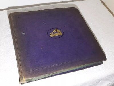 His Master's Voice Record Album With 12 Gramophone Records Speed 78