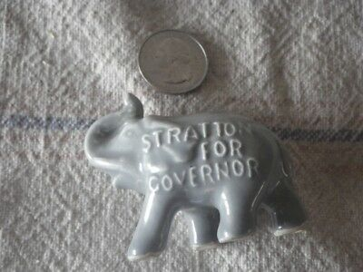 Vintage (1950's) Illinois GOP Republican Elephant Stratton For Governor