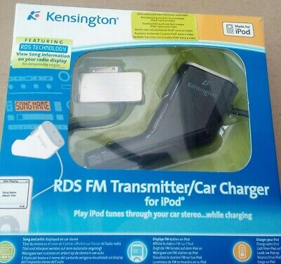 Kensington iPod FM Transmitter And Car Charger Boxed