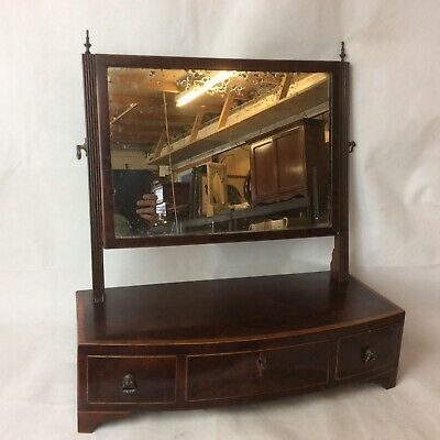 Antique Georgian Mahogany Swing Vanity Dressing Table Mirror
