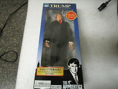 "Donald J Trump 12"" Talking Doll - The Apprentice 17 Phrases  - New in Sealed Box"