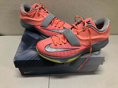 630e6245adf2 Nike KD VII 7 Mango Volt Grey 35000 Degrees 653996-840 Sz 14