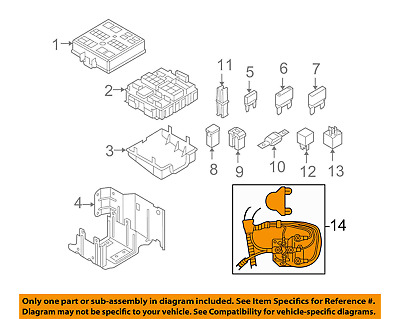 Ford F81Z-14448-AB Genuine OEM E350 E450 Excursion F250 F350 F450 Junction Block