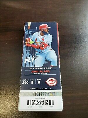 St. Louis Cardinals Cincinnati Reds MINT Season Ticket 4/26/19 2019 MLB Stub