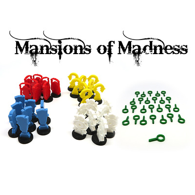 MANSIONS OF MADNESS TOKENS x58 expansion plastic 3D Boardgame kickstarter extras