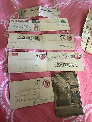 Collection Lot Of Vintage Turn Of The Century Postal Cards And Other  Ephemera