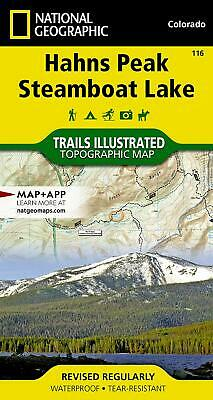 National Geographic Hahns Peak Steamboat Lake Trails Illus Topo Map #116 - 2019