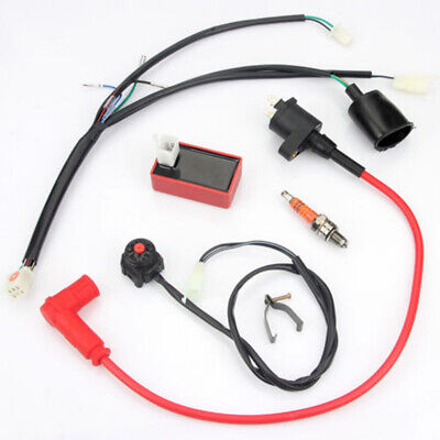 wiring loom harness switch ignition coil cdi fits for 50-150cc engine  motorcycle