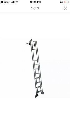 Enjoyable Cotterman Rolling Steel Library Ladder Durable Library Step Spiritservingveterans Wood Chair Design Ideas Spiritservingveteransorg