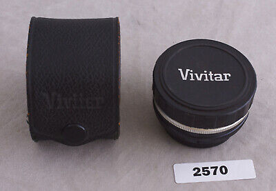 Vivitar Automatic 2x-1 Teleconverter w/ Case & Cap  for Pentax Screw Mount *570