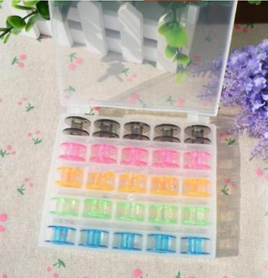 Plastic Empty Bobbins Case For Brother Janome Singer Sewing Machine GR