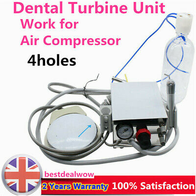 Portable Dental Air Turbine Unit controller Handpiece Compressor 4H 3way syring