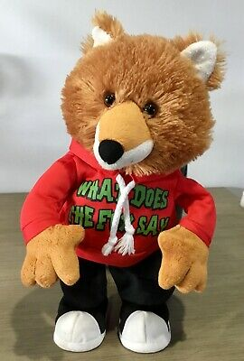 Rare Cuddle Barn The Fox Animated Plush Toy  What Does The Fox Say Dances Sing Bean-Bags