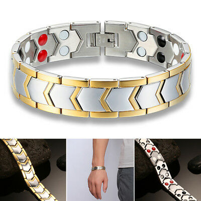 2019 Therapeutic Energy Healing Bracelet Stainless Steel Magnetic Bracelet