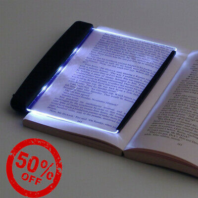 LED Light Wedge Eyes Protect Panel Book Reading Lamp Paperback Night Vision USA