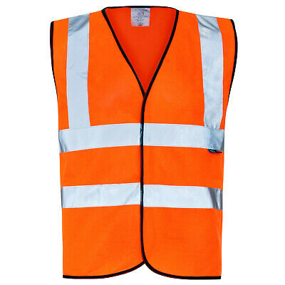 Supertouch 35286 High Visibility Vest Orange / Black Piping 3XL