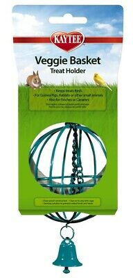 Kaytee Veggie Basket | Metal Treat Holder for Small Animals