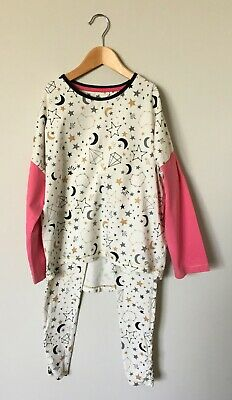 TU Cotton Moon Star Pyjama Set Top & Bottoms 9-10 Years Pyjamas Great Condition