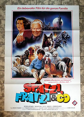 SPATZI, FRATZI + CO * VIDEO-POSTER German 1-Sheet Video ´80 PETER USTINOV