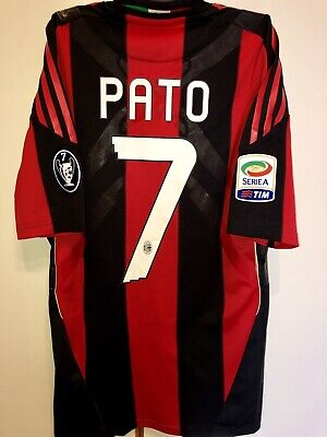 2011f2de70a96a Maglia Shirt AC Milan Adidas Limited Edition Techfit Sponsor Fly Emirates 7  Pato