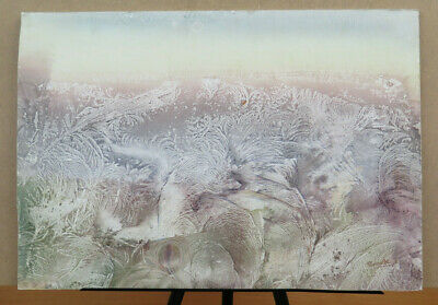 Painting Abstract Painting Watercolour Ice Signed Vintage Anni 70 Original P8