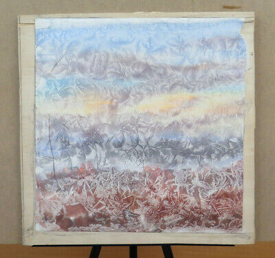 Modern Painting Abstract Vintage Signed Pancaldi Painting Watercolour Frost P8