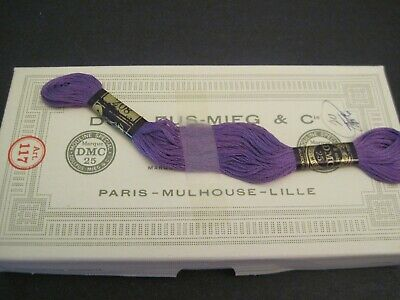 19 NEW Skeins DMC Embroidery Floss #208 DK PURPLE  6 Strand  MADE IN FRANCE
