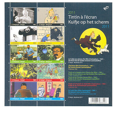 Belgium 2011 Tintin At The Movies Souv.sheet Mnh**