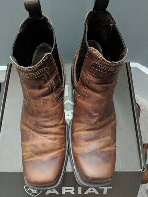 db59a5f138bc MEN S ARIAT 10019868 Midtown Rambler Ankle Boots 13 D Brown Leather ...