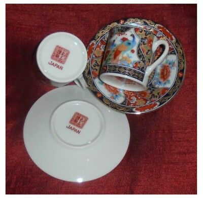 5 x Japanese Porcelain Cups and 6 Saucers, for makers mark see images