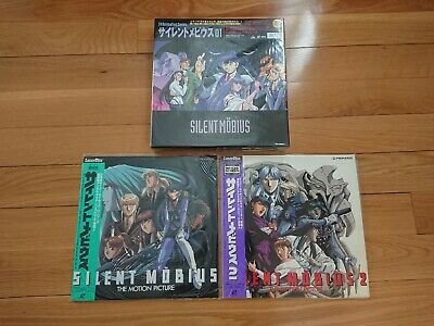 3 LD Laserdisc Silent Möbius Bundle Movie and Serie anime manga laser disc JP