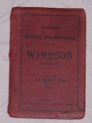 Vintage Bacons  Cycling  & Motoring Map Of Windsor District  As Pictures