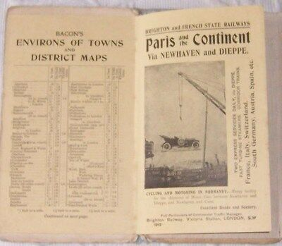 Vintage Bacons  Cycling  & Motoring Map Of Swanage  District  As Pictures