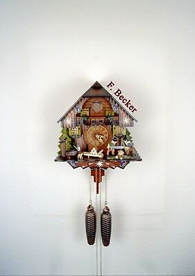 #7/9 Handmade Black Forest Cuckoo Clock - Chalet Style - 8 day-Clock - Sawyers