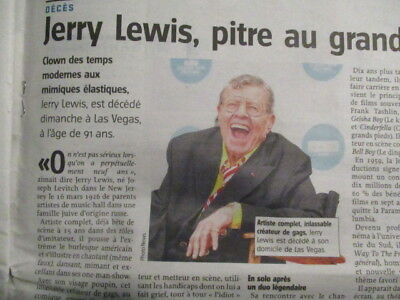 Journal Du Deces De : Jerry Lewis - 21/08/2017 -
