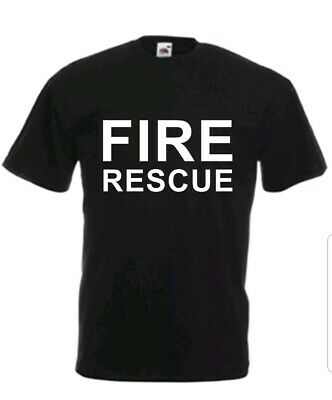 Custom Printed Fire Rescue Fancy Personalised T-Shirt Unisex  Heavy Cotton