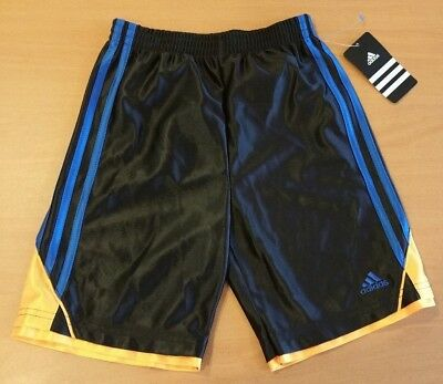 e66115c2f1f0 NEW ADIDAS DYNAMIC Speed Shorts Boys 5 6 Striped Gray Bottoms Soccer ...