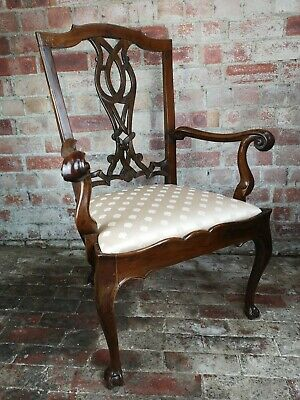 Antique George III fruit wood carver chair
