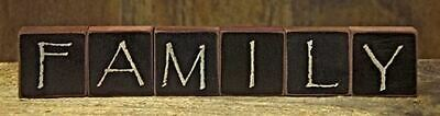 Family Letter Wooden Blocks Country Rustic Decor