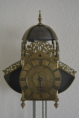 For sale English Winged Lantern Clock c.a 1680