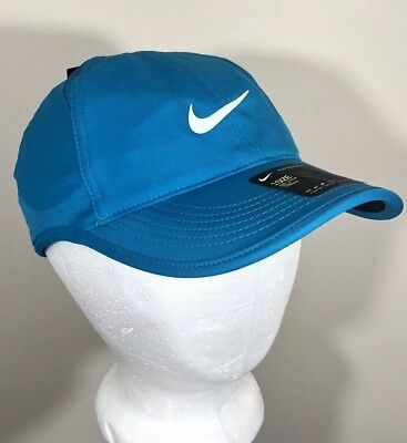 3cd97dd3d8b76 Nike Womens Tennis Hat Court AeroBill Featherlight Turquoise Blue Strap Back