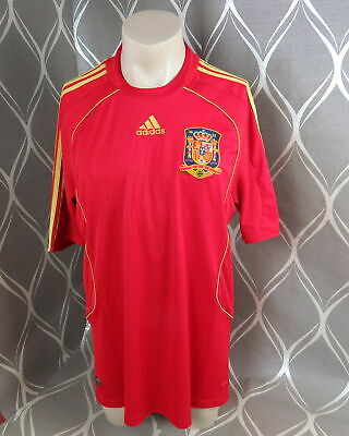 2cb5ffe6629 ADIDAS SPAIN HOME Jersey 2018 Juniors Red/Gold Football Soccer Top ...
