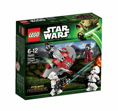 Star Wars Lego 75001 Republic Troopers vs Sith Troopers