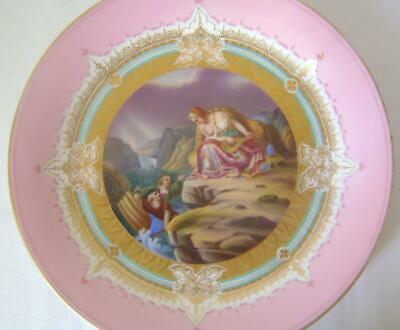 C.19th Vienna Porcelain Cabinet Plate depicting a Siren & Shipwrecked Sailors