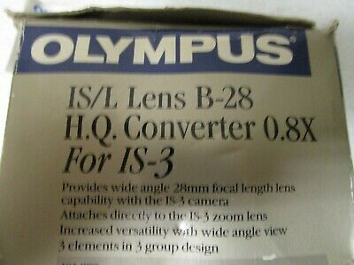 Olympus IS/L Lens B-28 H.Q. Converter 0.8x for IS-3 - In Retail Box