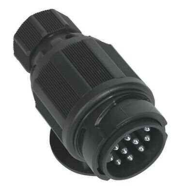 Sealey Tb54 Towing Plug 13-Pin Euro Plastic 12V Twin Inlet
