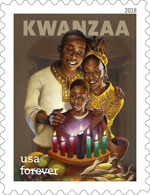 2018 50c Pan-African Family & Culture Kwanzaa Holiday Scott 5337 Mint F/VF NH
